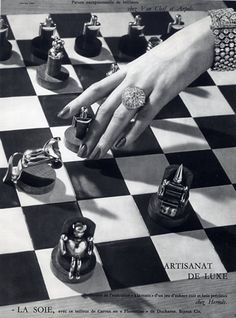 Hermès 1959 Chess Game, Bracelet Van Cleef & Arpels, Photo Georges Saad