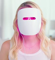 An INSANELY AFFORDABLE, futuristic-looking light therapy mask that may zap your acne into oblivion. | 32 Incredible Gifts That Are Basically Magic #BeautyRoutine30S Cystic Acne Remedies, Cystic Acne Treatment, Oily Skin Treatment, Best Acne Treatment, Light Therapy Mask, Homemade Acne Treatment, Acne Scar Removal, Masks, Scandinavian