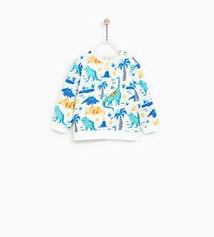 Image 2 of DINOSAUR SWEATSHIRT from Zara
