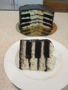 Piano key cake                                                                                                                                                     More