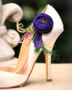 Purple Shoe Clips Statement Fashion Handmade by sofisticata, $48.50