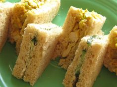 Cucumber with Dill and Curried Chicken Tea Sandwiches