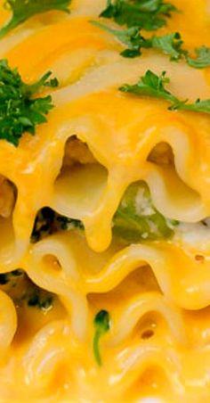 Cheddar Broccoli Chicken Lasagna