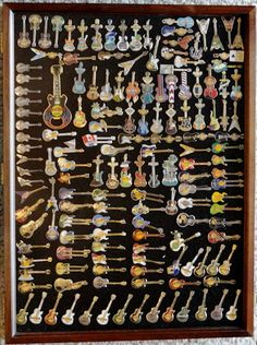 Hard Rock Guitar Pins from all over the world. Add to your collection: rockshop.hardrock.com #hardrock