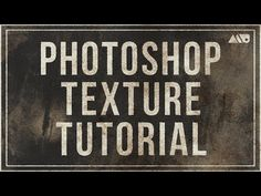 Different Technique Using Textures in Adobe Photoshop Tutorial - YouTube
