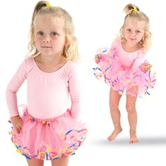 Fun and bright tutu that your little dancer will dazzle in.