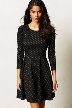 Lace-Framed Dress - anthropologie.com Would look so cute with a pop of color with a blazer, shoes or bag!