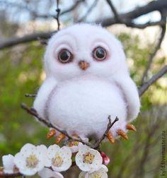 Совенок Герберт, который уже нашел весну и лето))) - белый,совенок,сова
