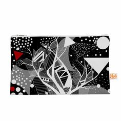 "Marianna Tankelevich ""Geometric Play"" Black Red Everything Bag"