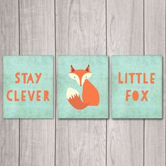75% OFF SALE Stay Clever Little Fox (Set of 3) - 8x10 Fox Nursery Decor, Nursery Art, Nursery Decor, Woodland Nursery, Nursery Wall Decor by DreamBigPrintables on Etsy https://www.etsy.com/listing/220007803/75-off-sale-stay-clever-little-fox-set