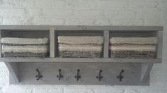 Kapstok 100 × 40cm met mandjes