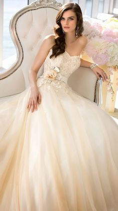 Essense of Australia 2014 Bridal Collection - Not a fan of creamy colour, but design is quite pretty :)