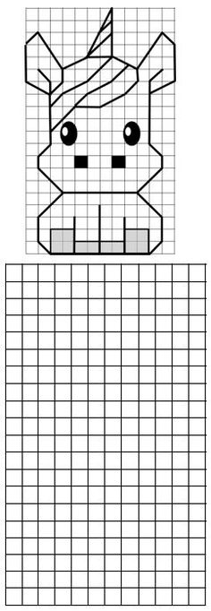 Graph Paper Drawings, Graph Paper Art, Blackwork Patterns, Embroidery Patterns, Perspective Drawing Lessons, Pixel Art Templates, Unicorns And Mermaids, Coding For Kids, Bobble Stitch