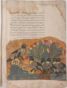 """The Crow King Consults his Ministers"", Folio from a Kalila wa Dimna"