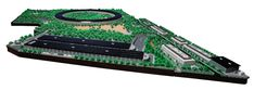 This mini version of Apple's Cupertino campus is made entirely of Lego, and was modelled on drone footage taken during construction Round Building, Glass Pavilion, British Architecture, Aerial Footage, Foster Partners, Lego Moc, Apple, Park, Photography