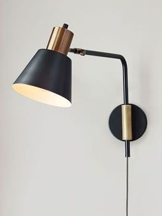 Over your generic rental lighting? These are the best plug-in wall sconces for every interior design style. Living Room Lighting Design, Vintage Inspired Interiors, Wall Decor Bedroom, Wall Sconces Bedroom, West Elm Sconce, Wall Lamp, Plug In Wall Sconce, Plug In Wall Lights, Modern Lamp Shades