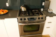 How to Clean an Oven With Magic Eraser; need to try the suggestion of using a little dish soap in the cleaning water.