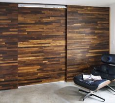 Sliding Barn Door and Wall from Cliff Spencer, modern take on movable wall