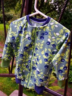 Blueberry jacket for little guy.