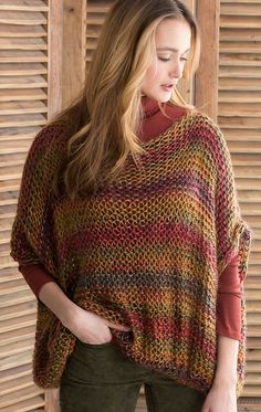 Free Knitting Pattern for Relaxed Pullover - #ad Easy sweater pattern in reverse stockinette. Great with multi-color yarn. tba