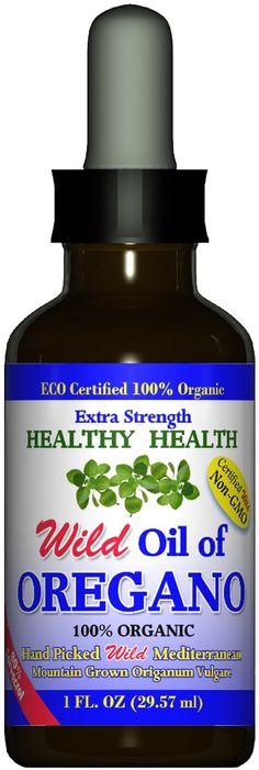 """Extra Strength"" Wild Mediterranean Turkish 100% Eco Certified Organic Oil of Oregano"