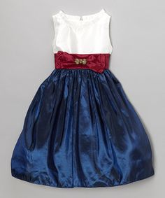 Take a look at this Midnight Blue Maria A-Line Dress - Girls on zulily today!