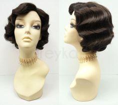 Dark-Brown-Finger-Waves-Wig-Costume-Short-Retro-1920s-Gatsby-Flapper-Vintage