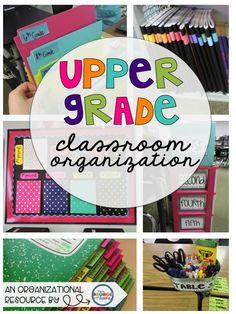 Classroom Organization in the Upper Grades {Part 3 of 5}