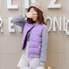 Winter Jacket Women Korea Uniform Warm Clothing 2016 New Fashion Patchwork Slim Coat Down Cotton Parkas Plus Size SY016