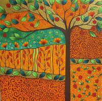 "SONIA KOCH - acrylic on canvas - ""Magic Garden II"""