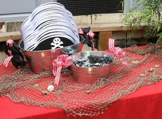 Pirate Birthday Party Favor Table. Buy pirate party favors @ RevelBee.com