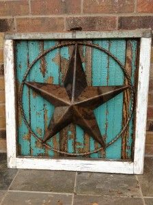 framed in texas star.....turquoise