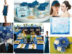 The color! sometimes also called Marine Blue....ocean blue wedding : PANTONE WEDDING Styleboard : The Dessy Group.