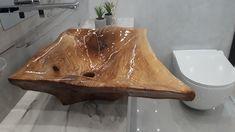 Wood sink drewniana umywalka to rzeźba nie CNC. #wood #sink #bath #resin #rustic #designe #farmvill Wood Design, Cnc, Bathtubs, Bathroom, Sinks, Washroom, Bathtub, Sink Units, Bath Tube