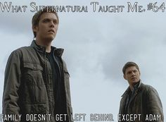 What Supernatural Taught Me 64 | Submitted by: mitch2k