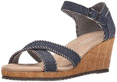Skechers Cali Womens Monarchs Lil Sweethearts Wedge Sandal DarkNavy 8 M US * You can get additional details at the image link.(This is an Amazon affiliate link and I receive a commission for the sales)