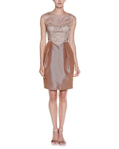 Spotted this Sue Wong Taupe Embroidered Twofer Dress on Rue La La. Shop (quickly!).