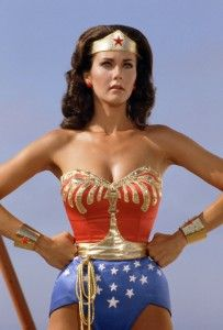 Wonder Woman, of course, true patriotic perfection.. not only was she able to kick some serious, you know, but she could pull of American nationalism without looking like a flag (: