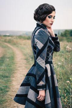 """Верхняя одежда ручной работы. Ярмарка Мастеров - ручная работа. Купить Пальто """"Оттенки"""". Handmade. Пальто, пальто на подкладе"""