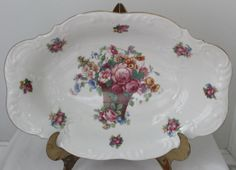 Flea Market Blog Hop at The Everyday Home Vintage Bavarian Bowl $15 Come see all the items for sale. 10 Blogs participating.
