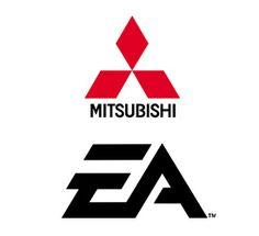 Mitsubishi logo and EA logo