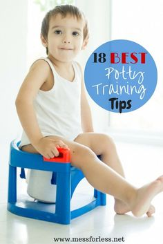 18 Best Potty Training Tips - Take the frustration out of potty training with these tips plus learn the most effective potty training method I have found.