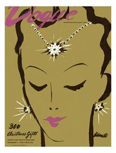 Vogue Cover - December 1938  by Eduardo Garcia Benito