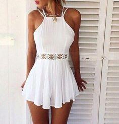 Sexy suspenders lace mini dress - Women Dresses for Every Age! White Romper, White Dress, White Lace, Lace Romper, White White, Dress Lace, Romper Dress, Dress Girl, Boho Dress