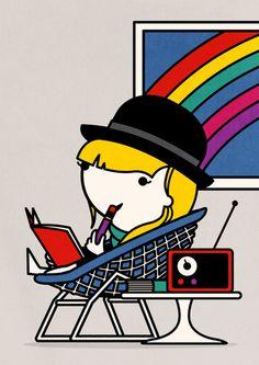 Spencer Wilson - Writer  Tiphaine-illustration  #rainbow #radio #writing