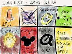 Link list – Mar 30, 2013 » by www.rocketink.net #disney #OmniFocus #apple #groening #art #collection via @Patrick Welker
