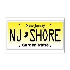 New Jersey, License Plate, Jersey Shore Sticker