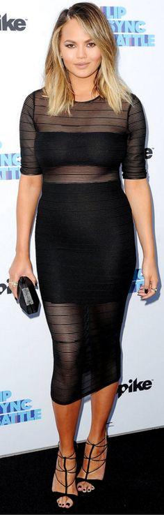 Chrissy Teigen wearing Call it SPRING, Aquazzura, Bless and Disney Couture / Swarovski