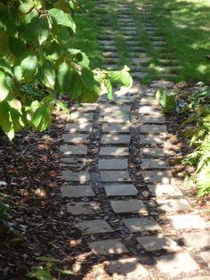 Fenton Roberts Garden Design, footpath of sandstone setts.