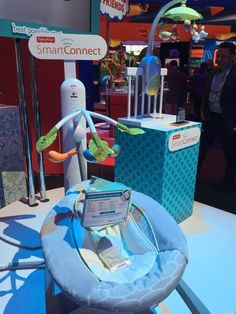 Pin for Later: Here's Your Peek Into 200+ Toys That Will Hit Store Shelves Later This Year Fisher-Price SmartConnect Bouncer and Mobile Fisher-Price's new SmartConnect infant gear lets parents control their baby's bouncer and mobile from their tablet or smartphone.